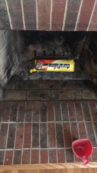 Mortar Repair on a Brick Fireplace ~ Columbia, MD