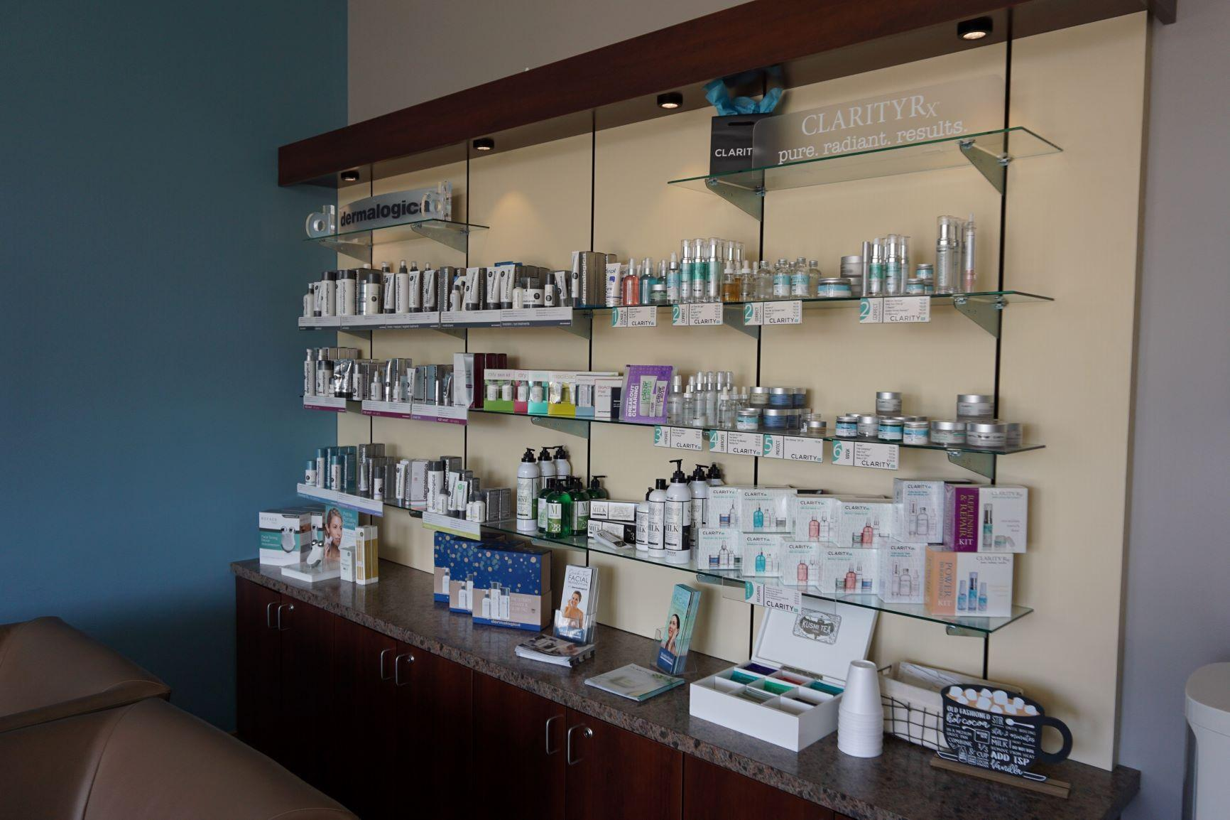 Dermalogica & Clarity Rx Product Shelf