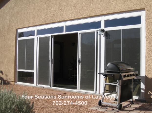 Patio Enclosure with 4-Panel Quad-Doors - Las Vegas, NV
