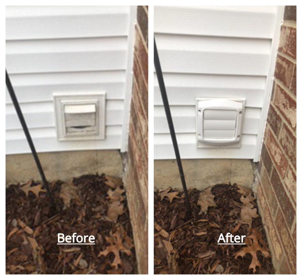 Vent Repair Before and After ~ Laurel, MD