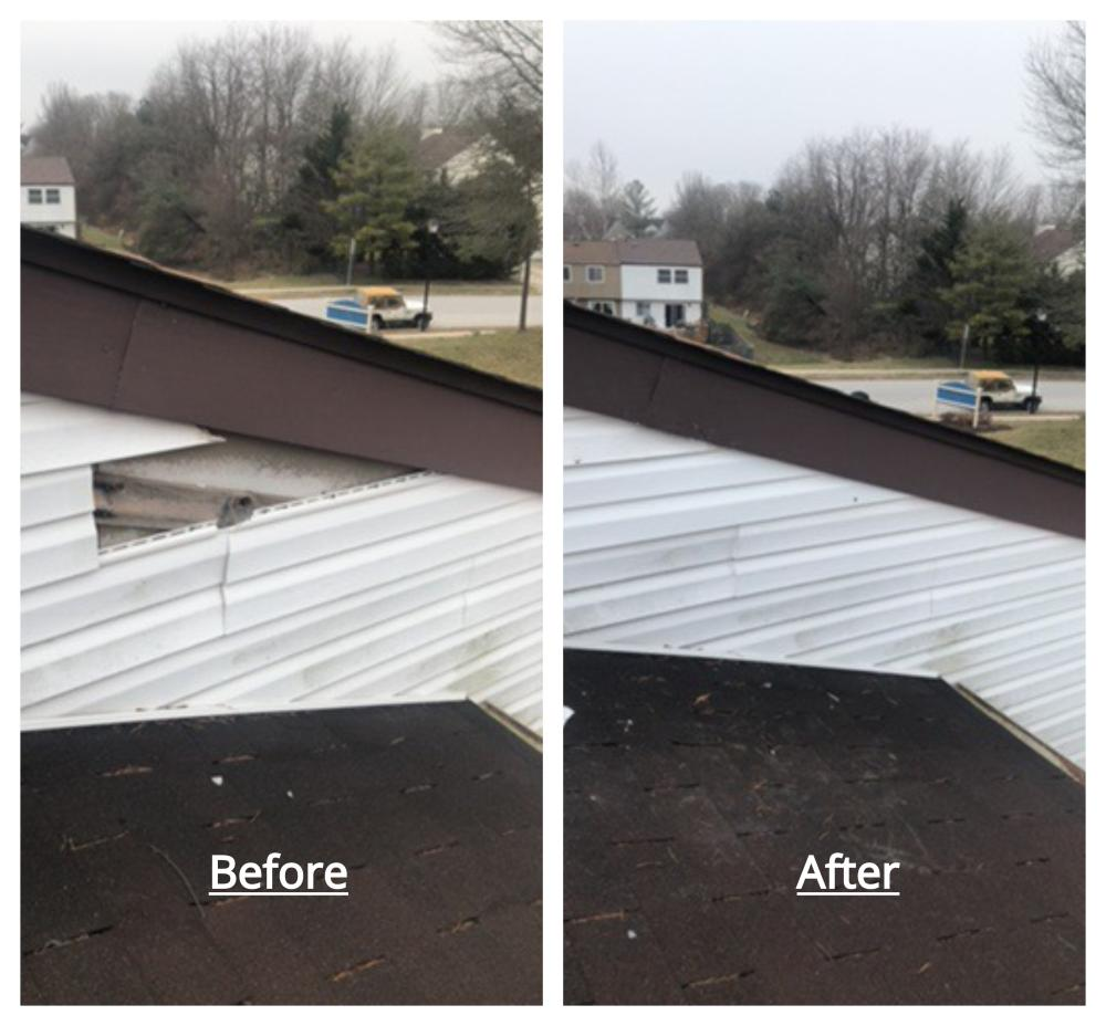 Siding Repair Before and After ~ Laurel, MD