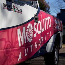 Hot Pink Mosquito Control Trucks