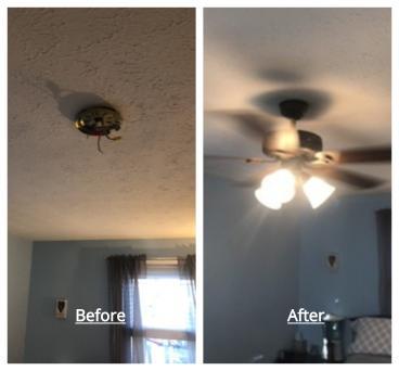 Ceiling Fan Repair ~ Ellicott City, MD