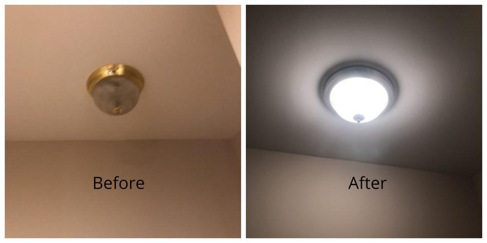 Light Fixture Replacement ~ Elkridge, MD
