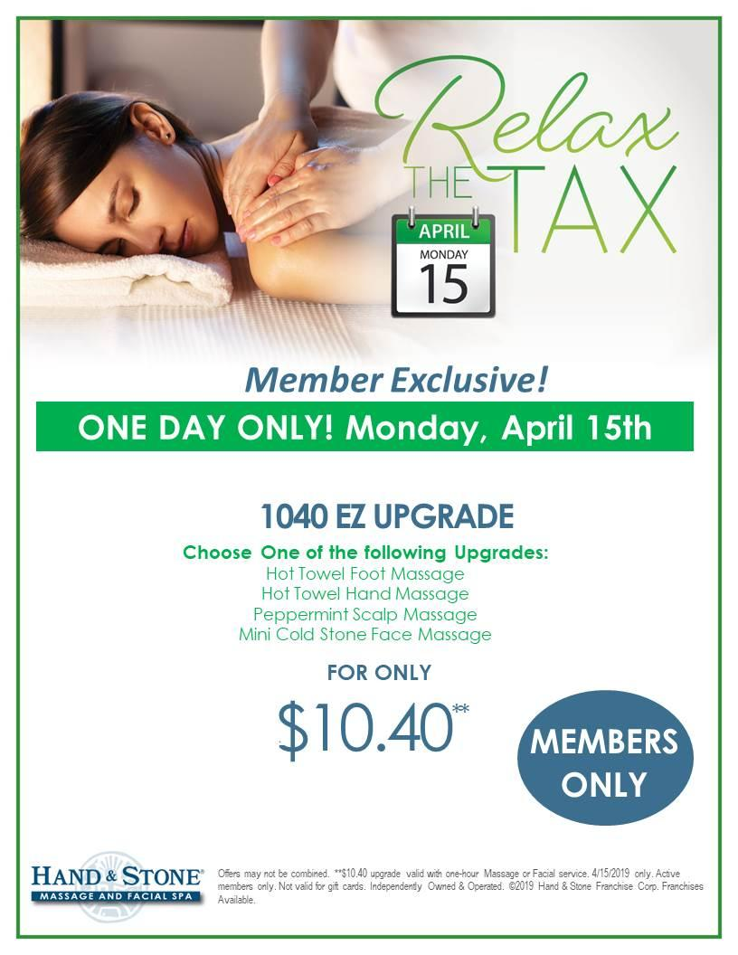 Relax the Tax Day for Members