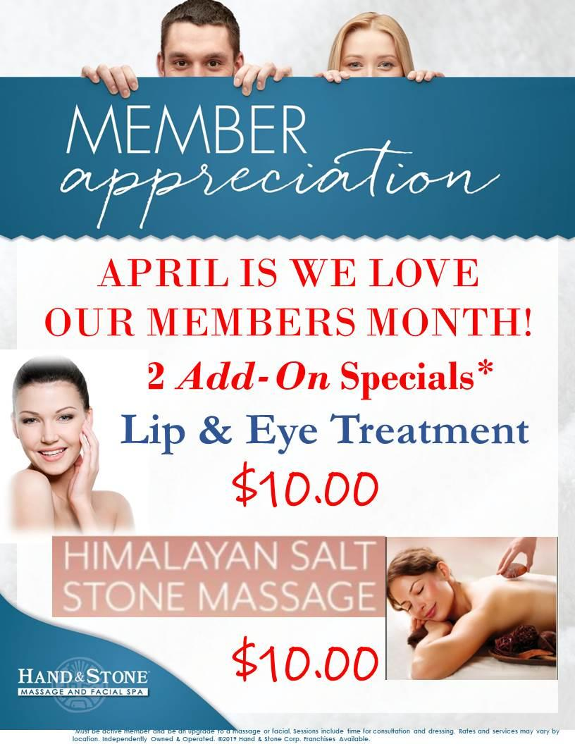 April is Member Appreciation Month