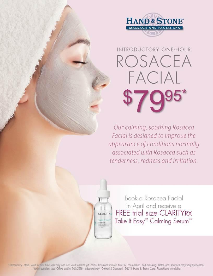 April is Rosacea Facial Month