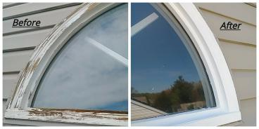 Half Circle Window Restoration ~ Elkridge, MD