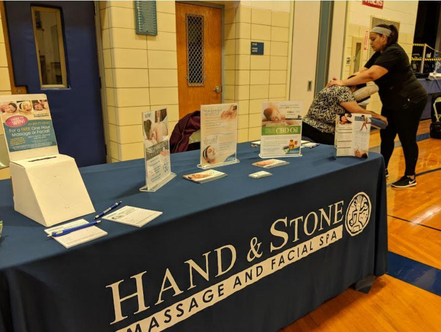 Hand & stone of Elmhurst at Mannheim Middle School Community Connection Night
