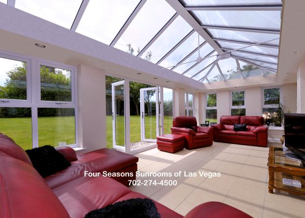 The Hampton Glass Roof Cathedral Hybrid Conservatory with French-style front doors