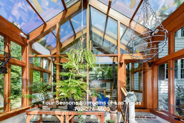 Four Seasons Laminated Wood Beam & Glass Sunroom ( The Elegant Living Collection )