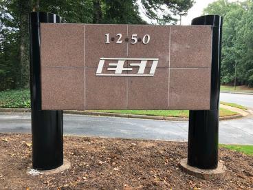 Before ESI Monument Sign