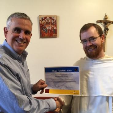 Fr. Albert Duggan of Brown-RISD Catholic Community Receiving FootPRINT Fund Award 2019