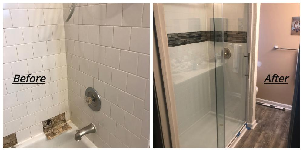 Tub to Shower Conversion ~ Sykesville, MD