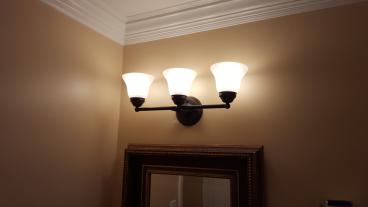 New Bathroom Light Fixture ~ Haverford PA