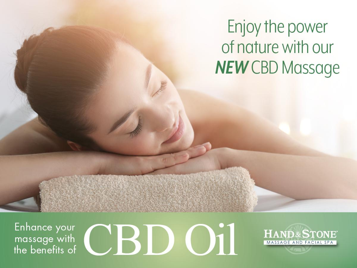 CBD Infused Oil Massage offered NOW!