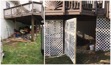 Lattice Installation ~ Eldersburg, MD