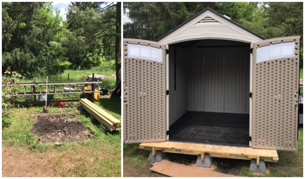 Shed Installation ~ Reisterstown, MD