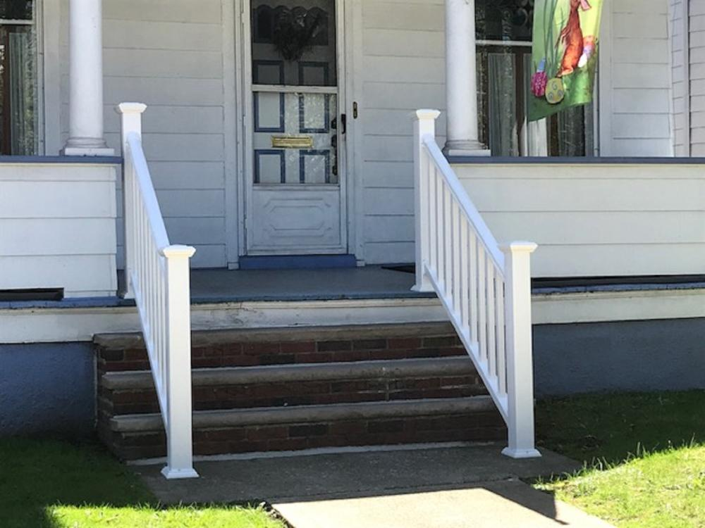 Vinyl railings installed in Wilkes-Barre
