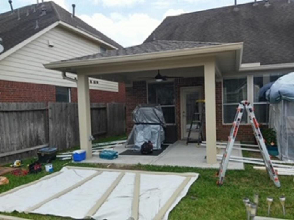 Screen Porch Job in Katy, Tx Before