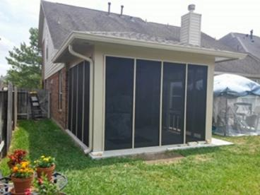 Screen Porch Job in Katy, Tx After