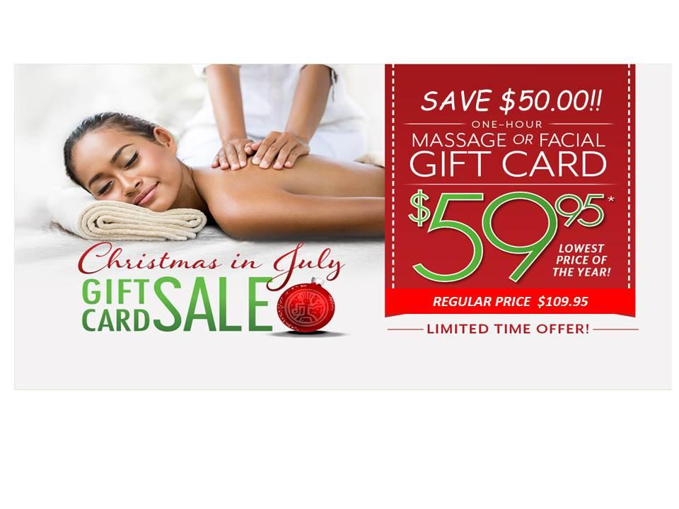 Pre-Sale for Christmas in July Gift Cards