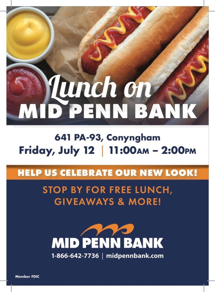 Lunch on Mid Penn Bank