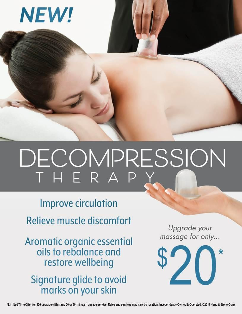 NEW SERVICE ALERT: DECOMPRESSION THERAPY MASSAGE