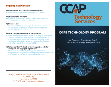 CCAP 2019 Core Brochure