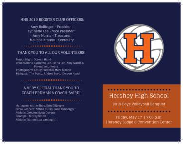 Hershey HS Volleyball Banquet