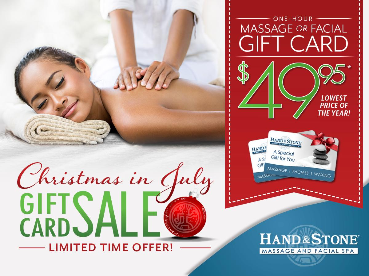It's Christmas in July at Hand & Stone!