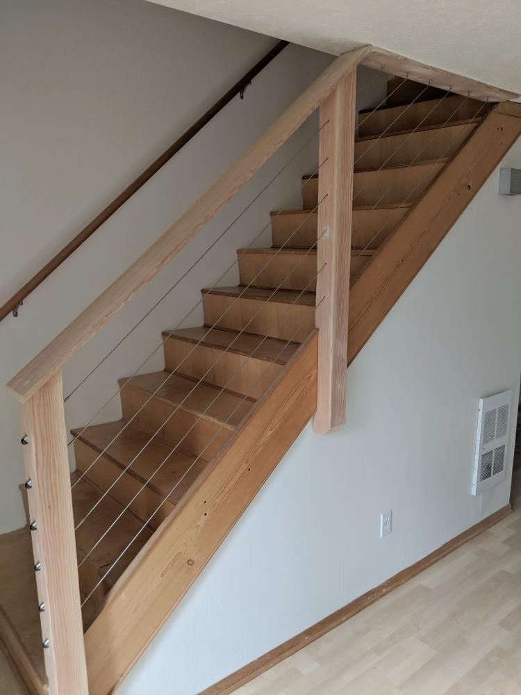 Cable Stair Rail System in Lake Oswego-After
