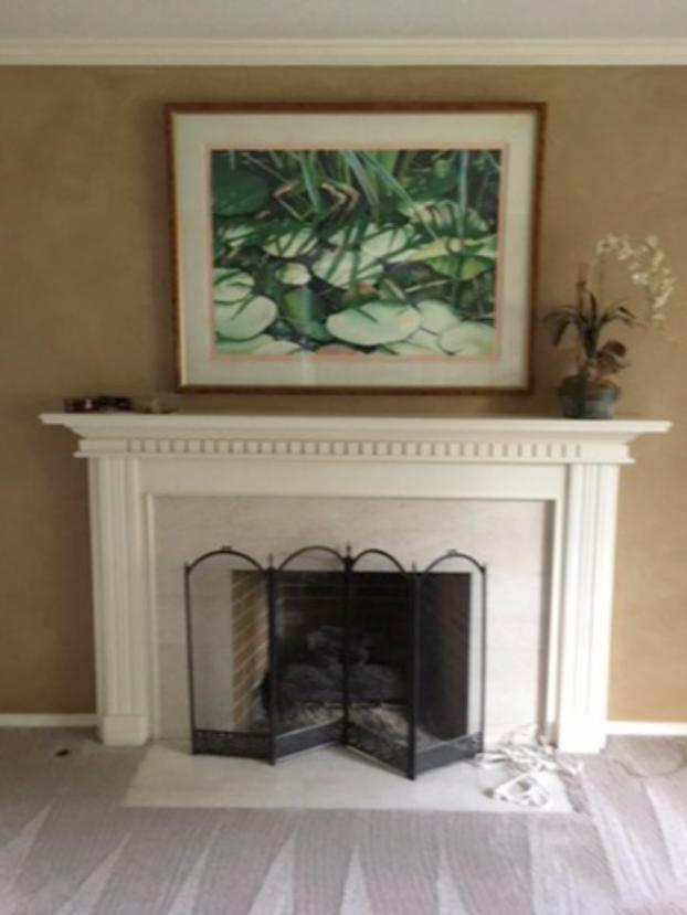Recreate Your Living Room Fireplace-Before