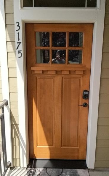 Updated Front Door in Portland-After