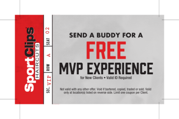 Sports Clips handout cards