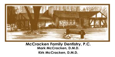 McCracken Dentistry Appt. Card