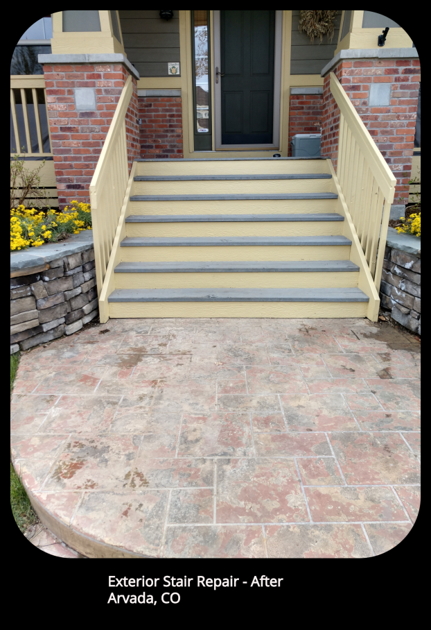 Exterior Stair Repair - Arvada, CO - After