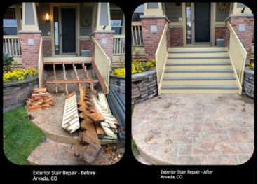 Deck Stair Replaced - Arvada, CO