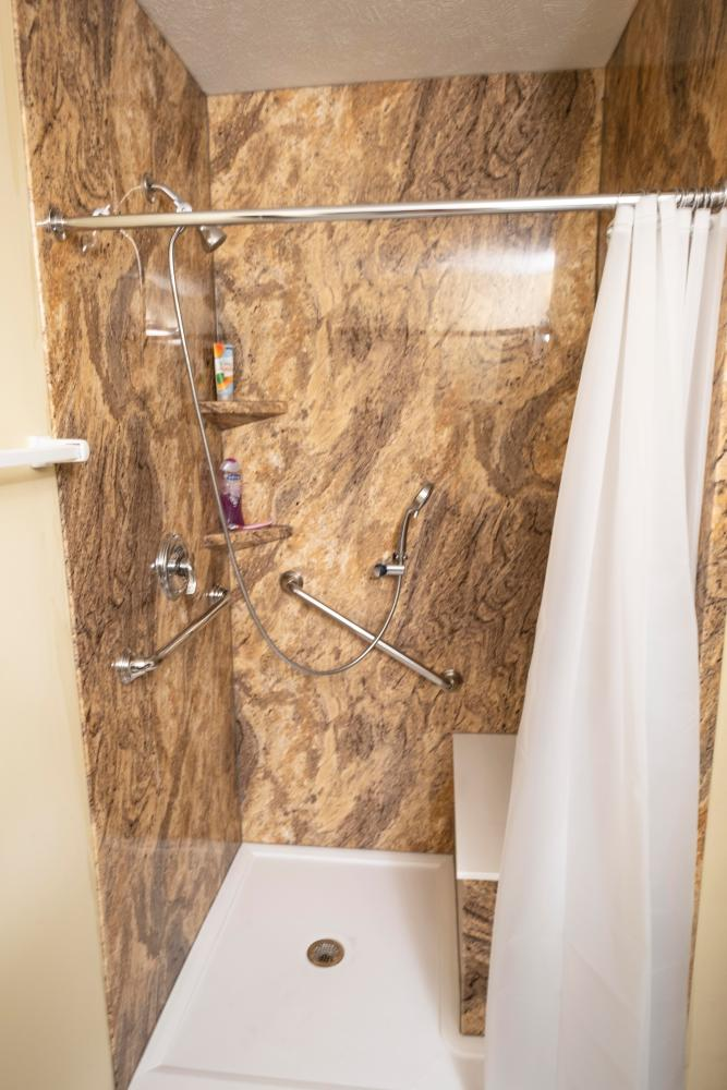 Since 2017, Re-Bath Omaha has awarded a member of the MS Society who shows need along with amazing positive attitude and character a free ADA shower. As the premier bathroom remodeling company in Omaha, we are CAPS certified by NAHB to provide ADA bathroom design and ADA bathroom remodels.