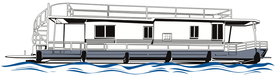 House Boat Drawing