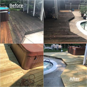 Deck Wood Replacement ~ Ellicott City, MD