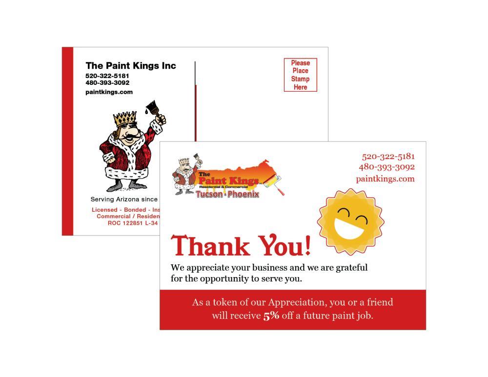 Paint Kings Postcard
