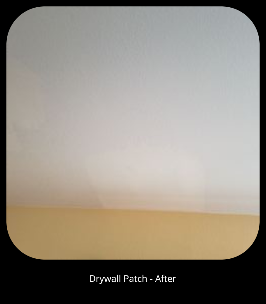 Drywall Patch - After