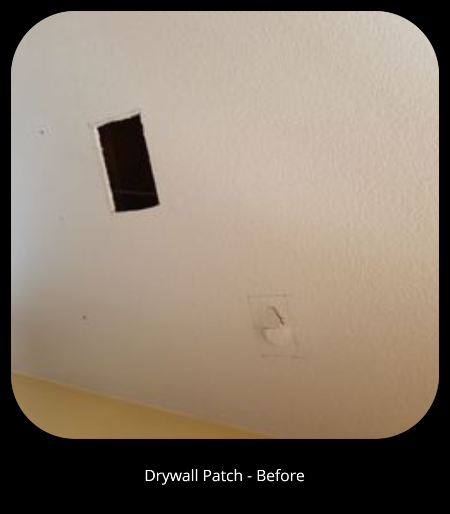 Drywall Patch - Before
