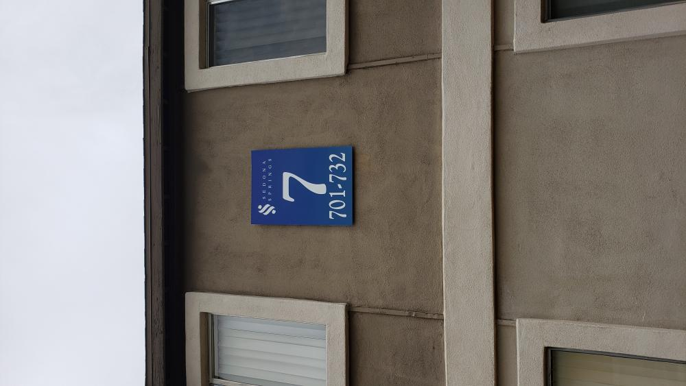 Building Directional Sign