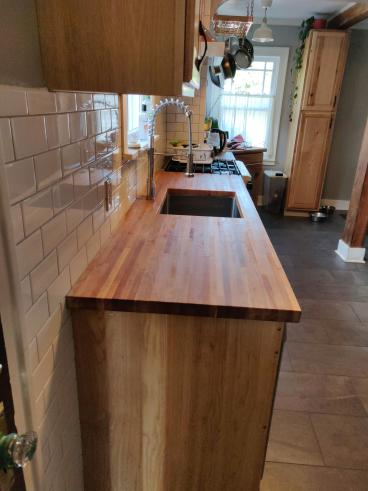 Portland Kitchen Butcher Block Counter