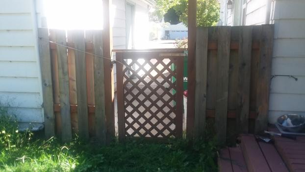 New Gate in SE Portland-Before