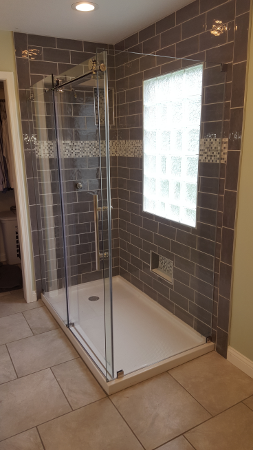 Installed Glass Shower Door in Westerville