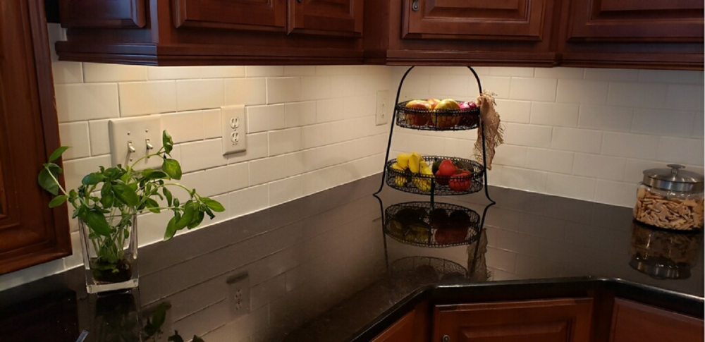 Installed Subway Tile Backsplash In Kitchen In New Albany