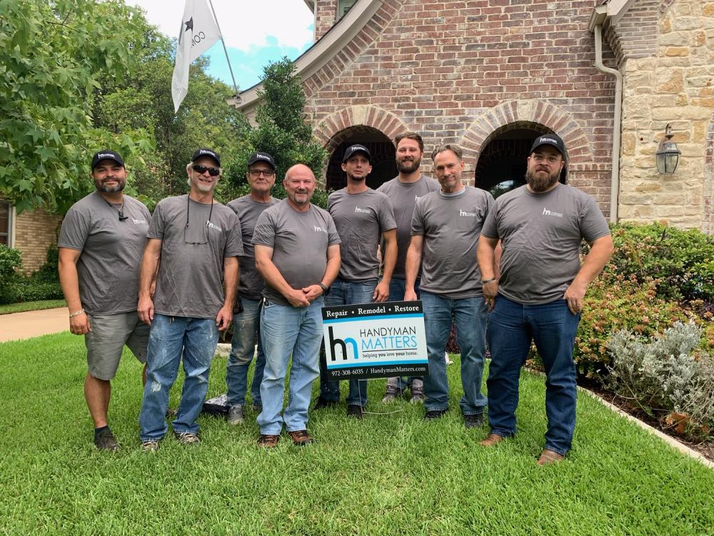 HMM Dallas Craftsman Team: Saulo, Chris, Steve, Brian, Dillon, Benjamen, Philip, & Allen